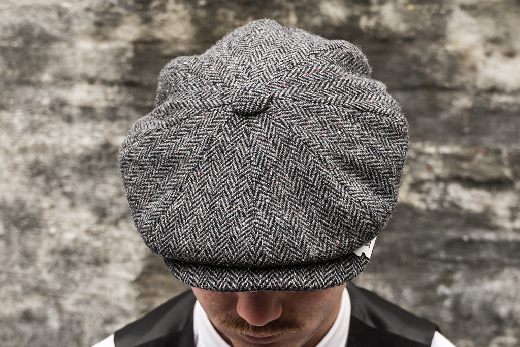 City Sport Herrringbone Grey  Cap