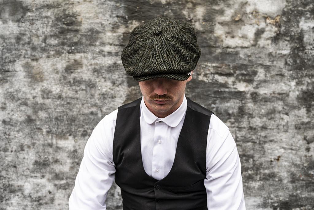 Major Headwear Herrringbone Green  Speckle Cap