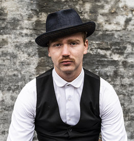 Alfonso d'Este Raw Denim Trilby Hat