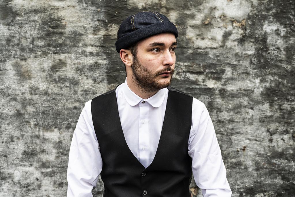 Alfonso d'Este Raw Denim Docker Cap