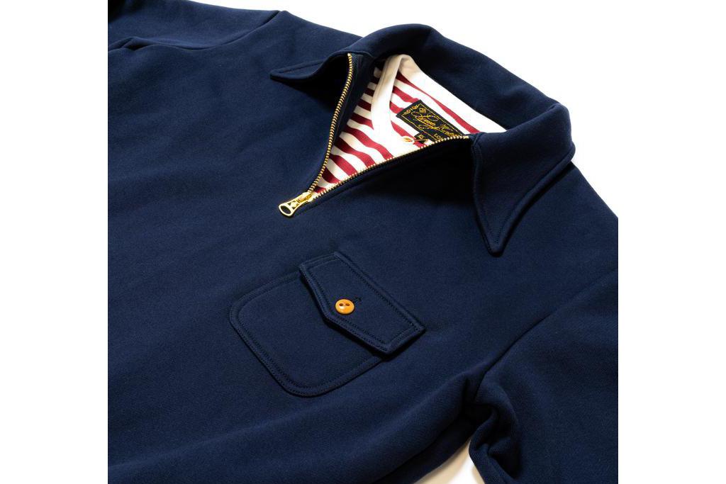 Simon James Cathcart 1942 Navy zip Sweater