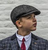 Alfonso d'Este Kids cap Black-White Herringbone