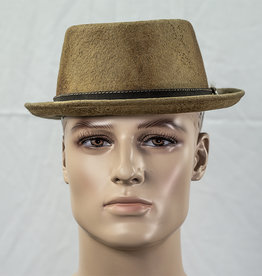 Major Headwear Porkpie hat cognac-brown