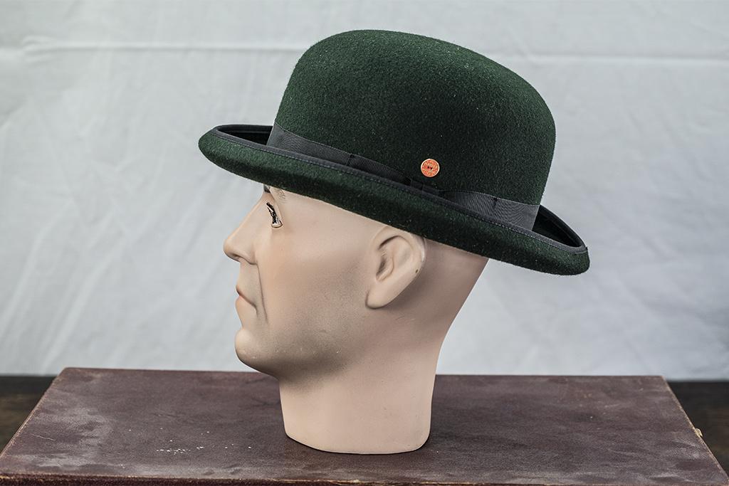 Mayser Hats Connor Wolga Stone Derby Hat Green