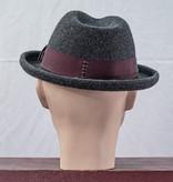 Major Headwear Fifties Wool Felt Trilby Hoed