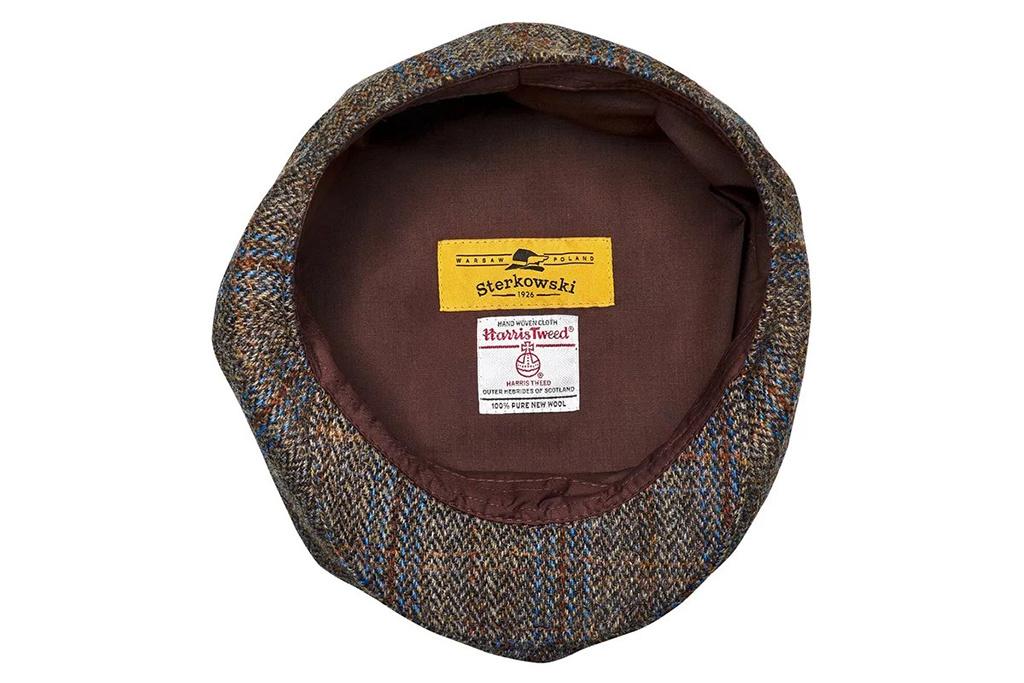 Sterkowski Peaky Blinder Brown-Blue Check Cap