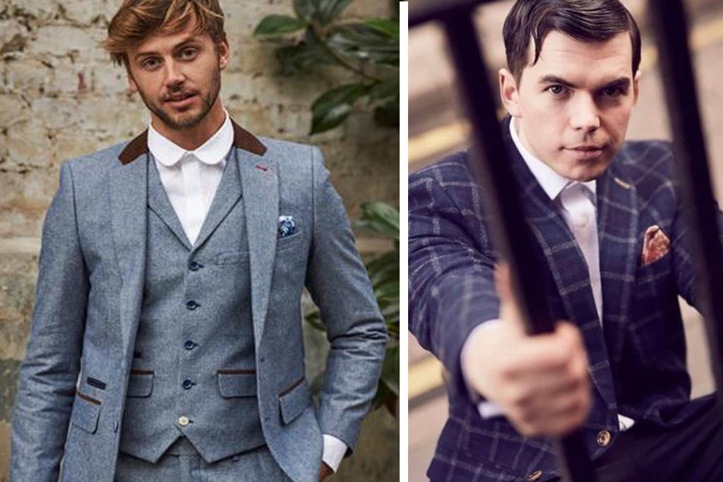 Harry Brown 3-delig Tweed Suits Confectie Harry Brown