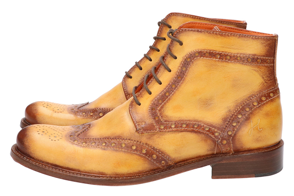Master Pieces Shelby Handpainted Brogues Ember Brown