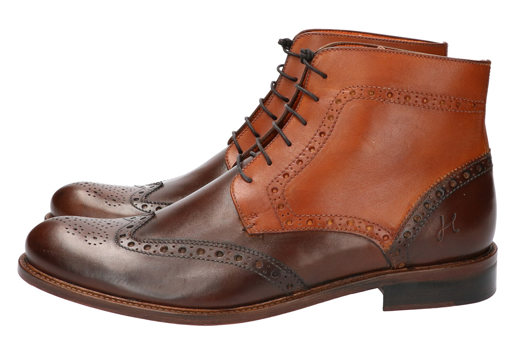 Master Pieces Shelby Handpainted Brogues Coffee Cream