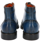 Master Pieces Shelby Handpainted Brogues Blue Tones