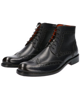 Master Pieces Shelby Handpainted Brogues Black Country
