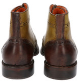 Master Pieces Shelby Handpainted Brogues Green Brown