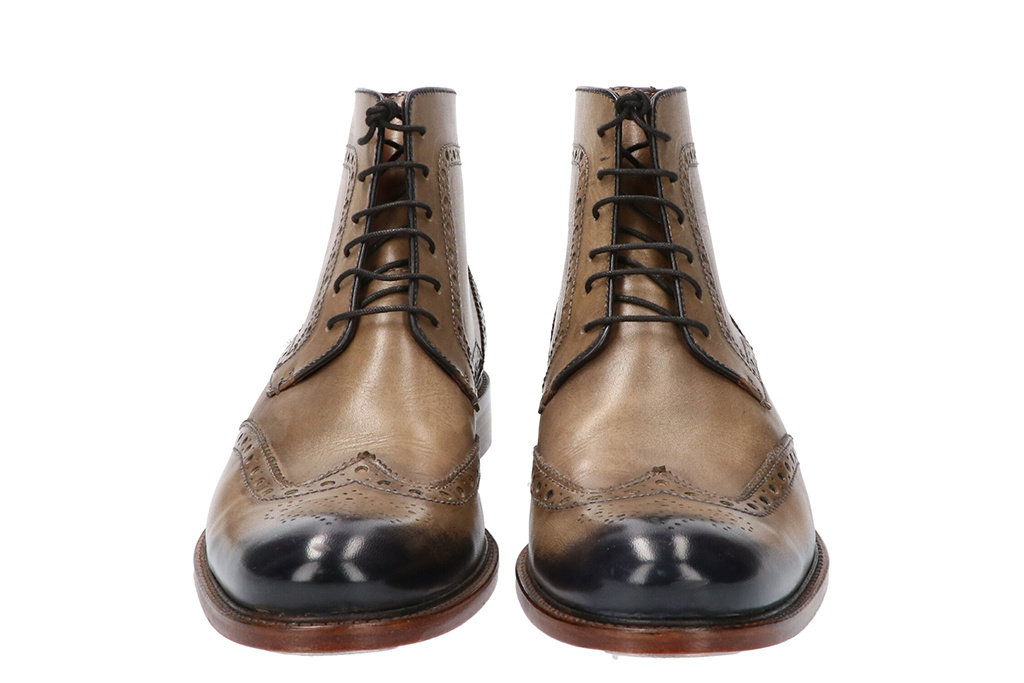 Master Pieces Shelby Handpainted Brogues Taupe Tones