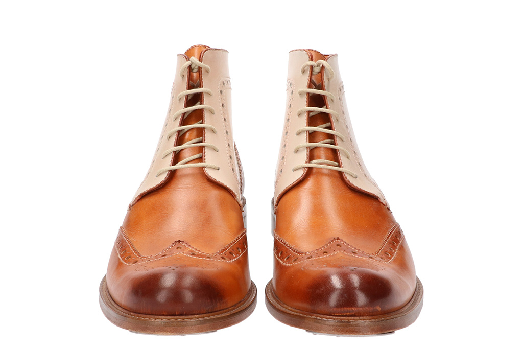 Master Pieces Shelby Handpainted Brogues Triple Tone Tan Brown