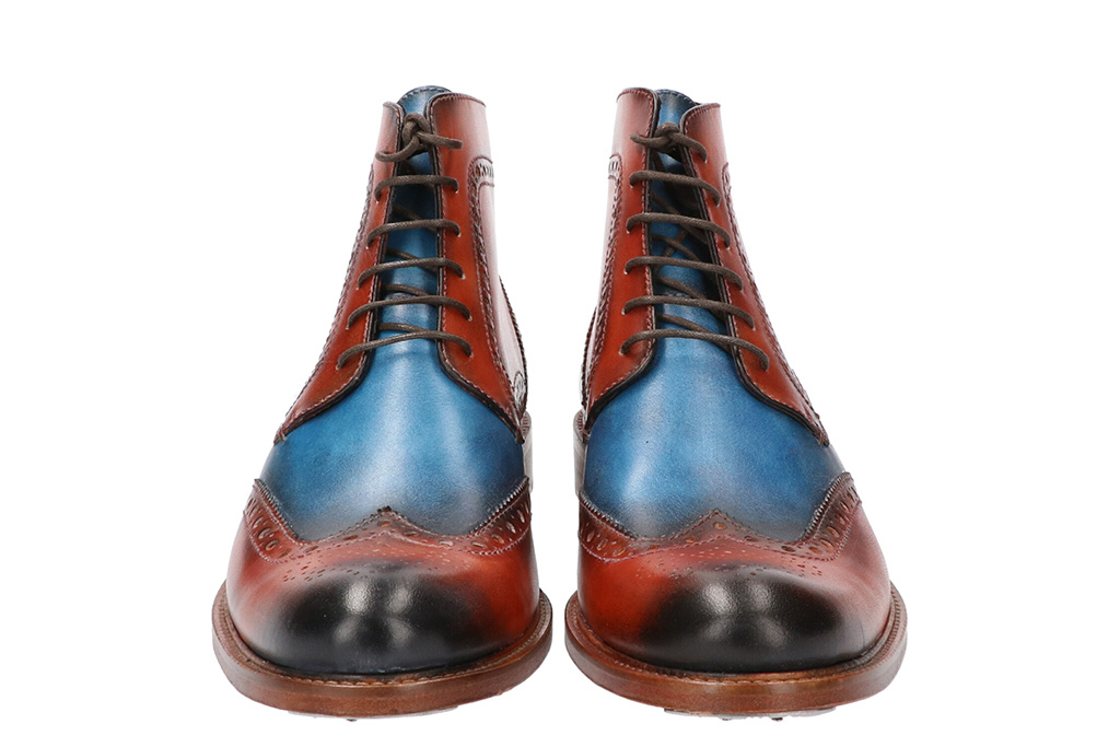 Master Pieces Shelby Handpainted Brogues Triple Tone Brown Blue
