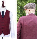 Shelby Brothers collection by Orange Fire Classic Red Barleycorn  3-delig tweed pak
