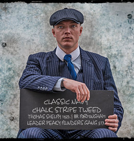 Shelby Brothers collection by Orange Fire Thomas suit Classic Navy Chalk Stripe