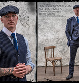 Shelby Brothers collection by Orange Fire 3-delig tweed pak Classic Navy Chalk Stripe