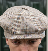 City Sport Shelby Beige Brown Checked Cap