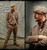 Shelby Brothers collection by Orange Fire 3-delig tweed pak Light Brown Herringbone tweed