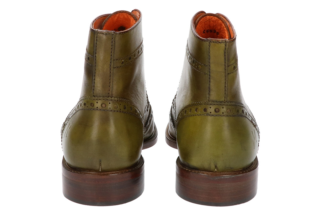 Master Pieces Shelby Handpainted Brogues Green Tones