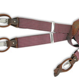 Sir Redman Bretels combipack Striped Gent bordeaux-bruin