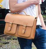 Ruitertassen MATZ oldschoolbag in naturel leer