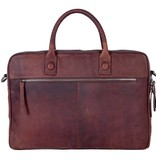 DSTRCT Chester brown 17 inch laptoptas
