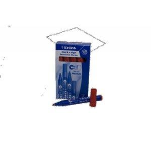 Lyra Viltstift watervast rood 2-6mm per doosje | 10stuks
