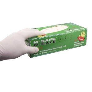 Latex handschoenen M-safe maat M-medium 100stuks