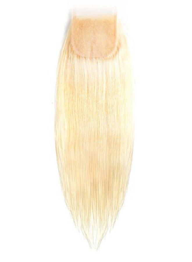 Raw* Indian 613 Blonde Straight 4x4 Closure