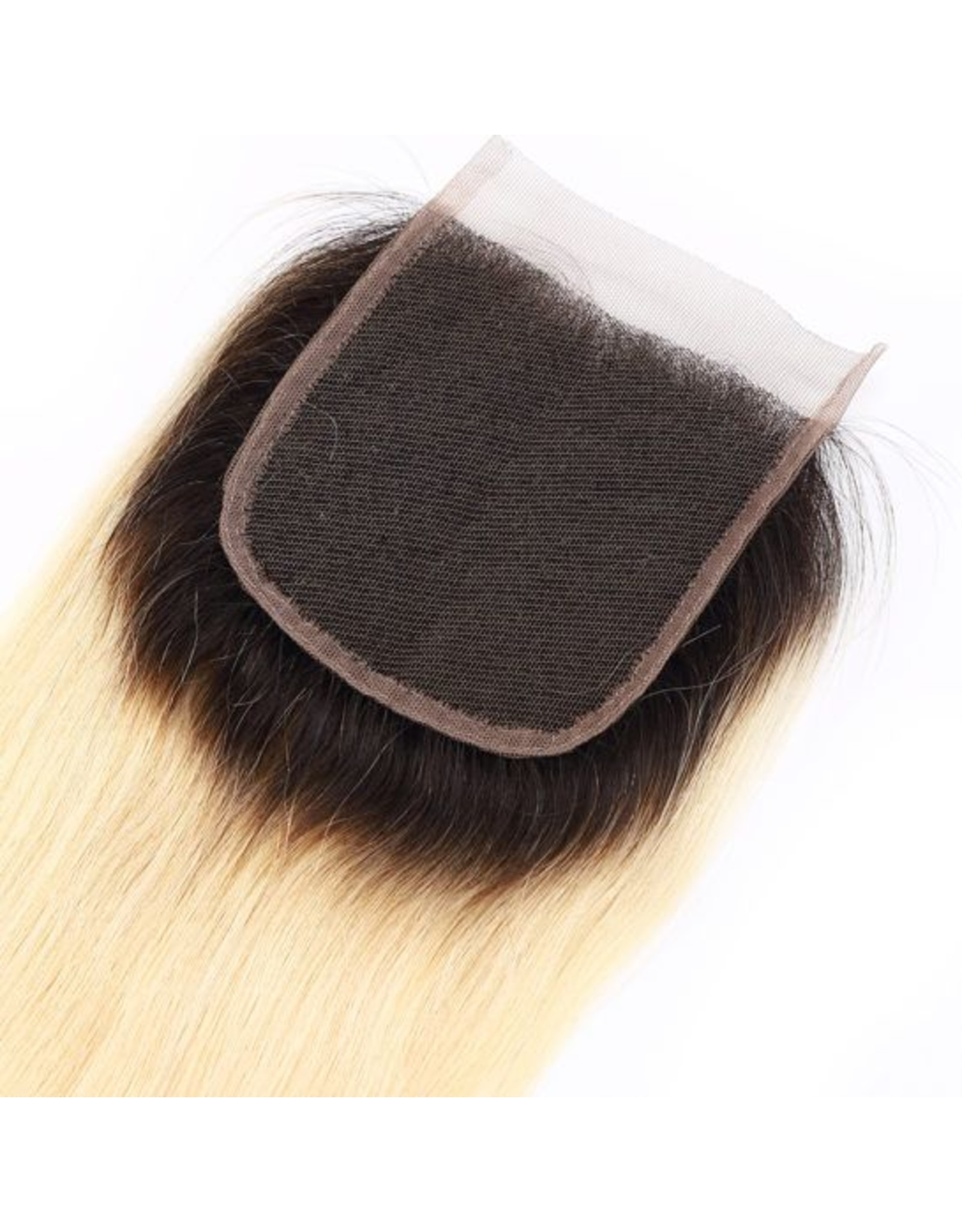 Ombre Blonde #1b/613 Natural Straight Lace Closure