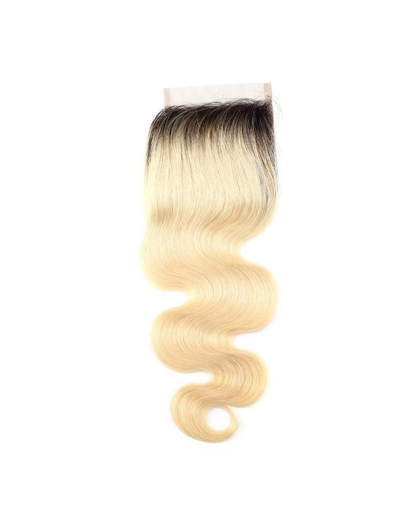 Ombre Blonde #1b/613 Body Wave Lace Closure