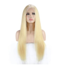 613 Blonde Natural Straight Frontal Wig