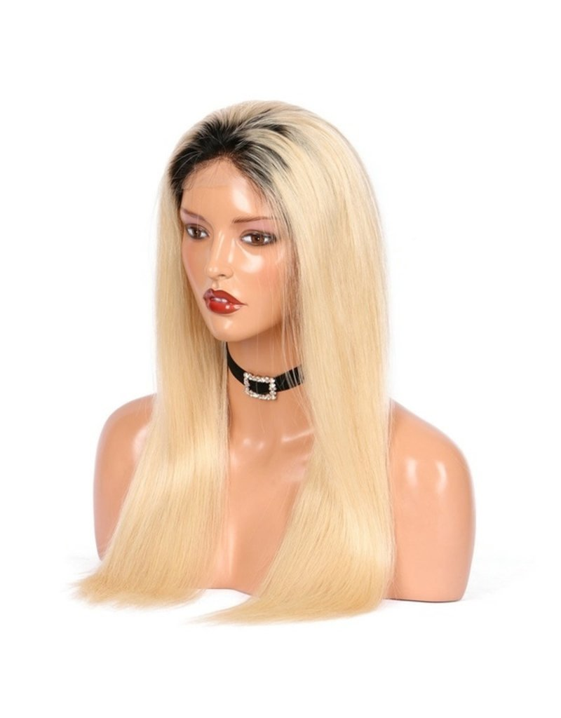 1b/613 Blonde Natural Straight Frontal Wig