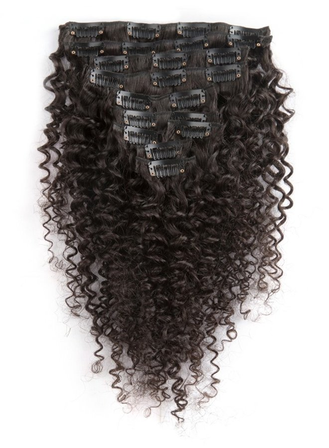 Raw* Indian Kinky Curly Clip Ins