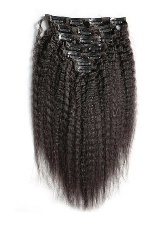 Raw* Indian Kinky Straight Clip Ins