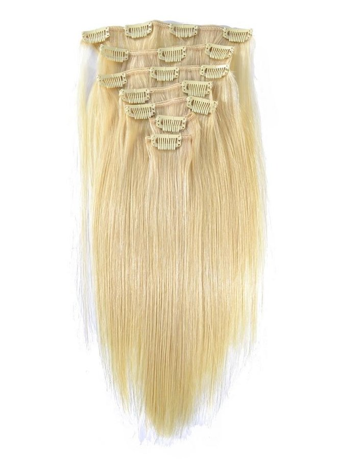 Raw* Indian 613 Blonde Natural Straight Clip Ins