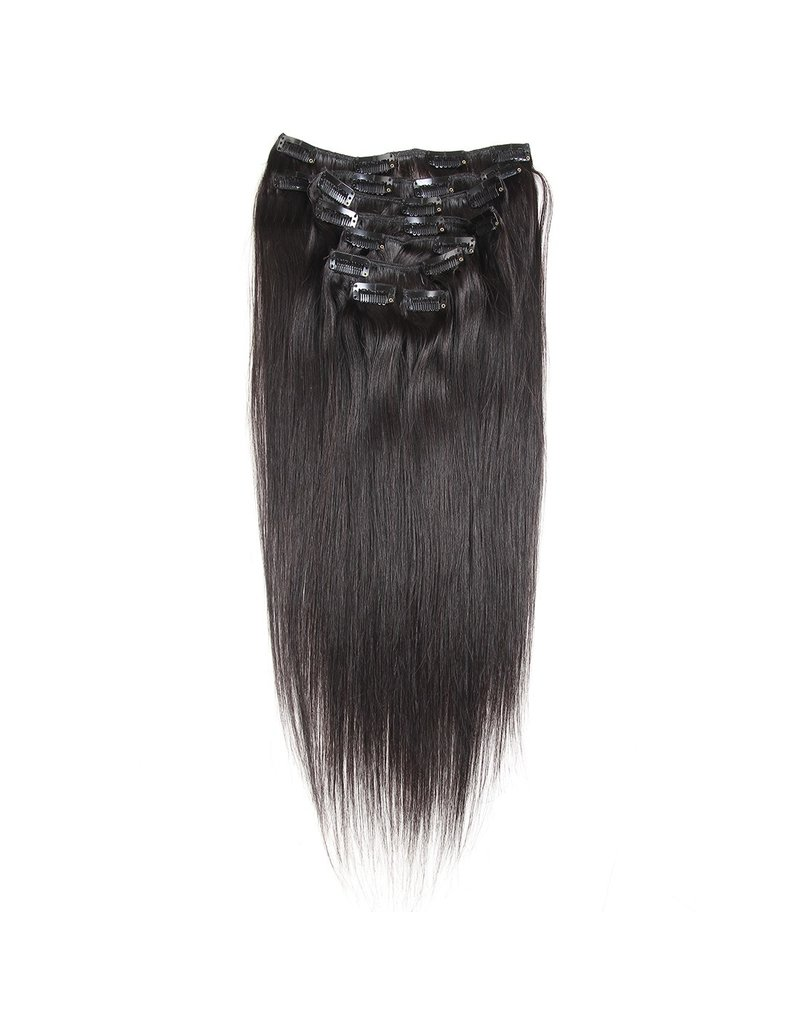 Raw Indian Natural Straight Clip Ins