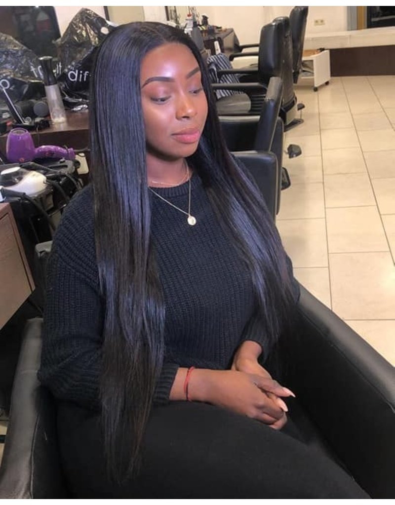 Raw Indian Natural Straight Full Lace Wig