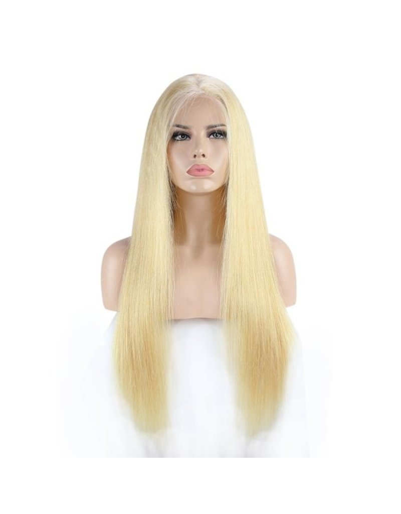 613 Blonde Natural Straight Full Lace Wig