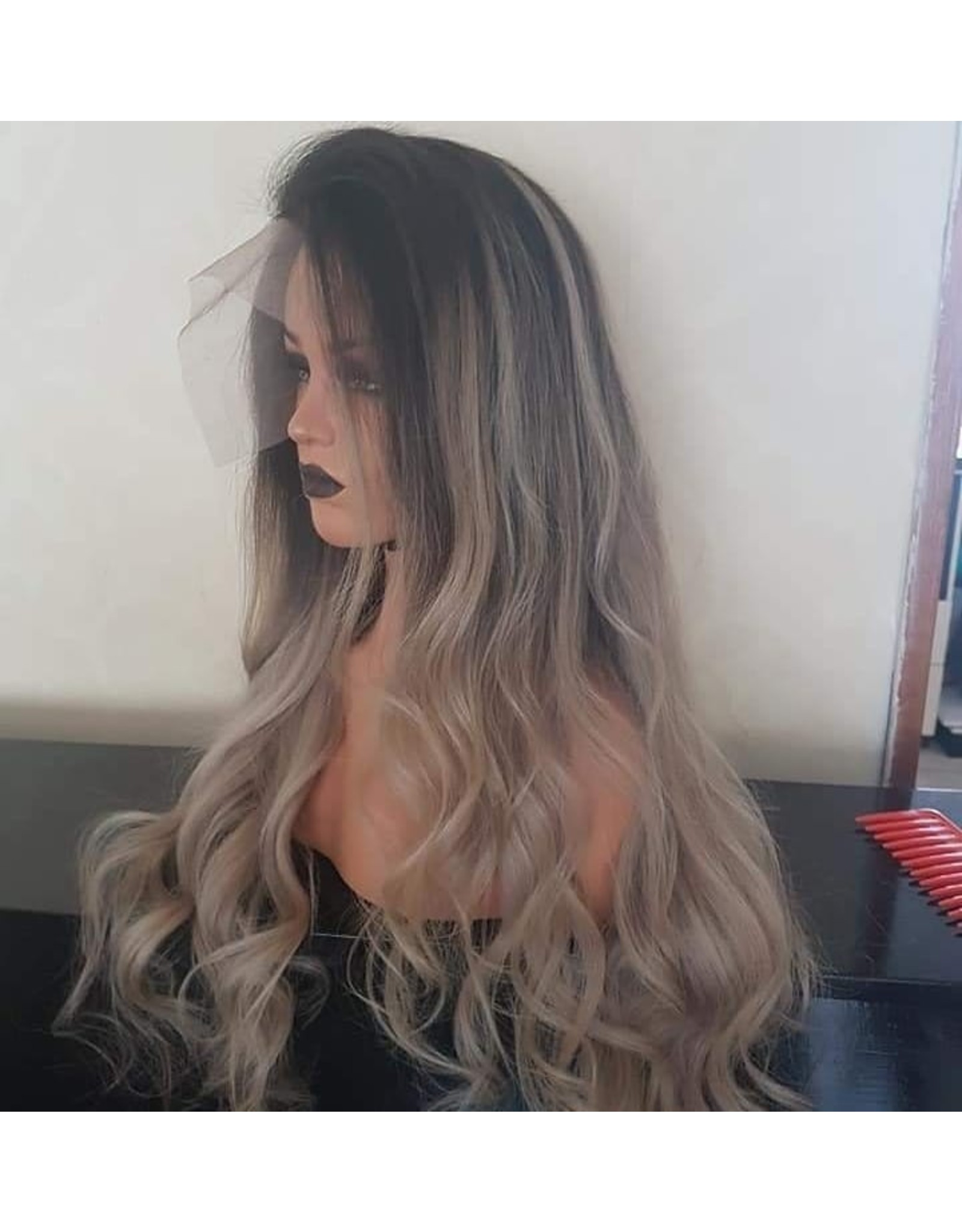 Ombre Iced Blonde Frontal Wig