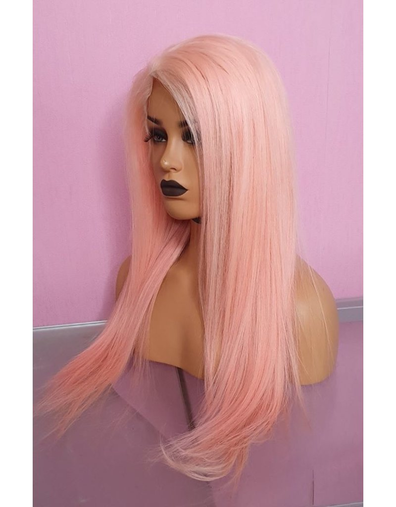 Cotton Pink Frontal Wig