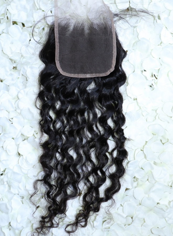 Remy Curly Closure 18""