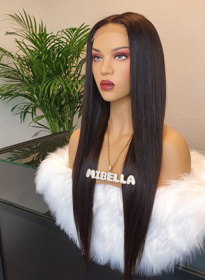 "Closure Wig 24"" Raw Indian Straight"