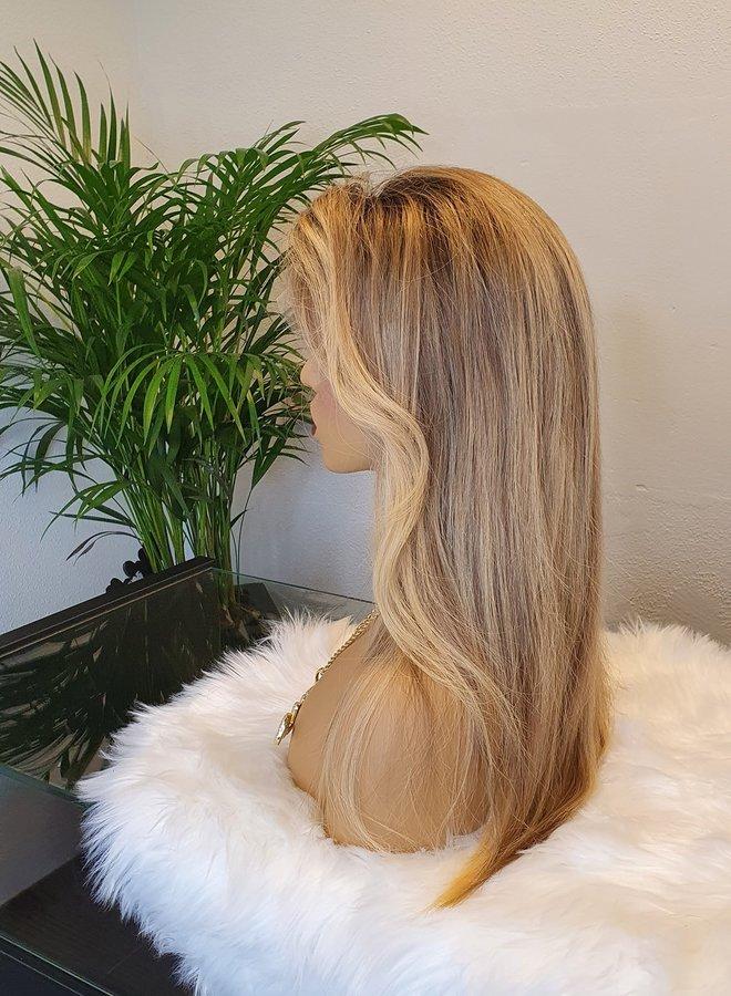 "Frontal Wig Blonde 16"" Raw Hair"