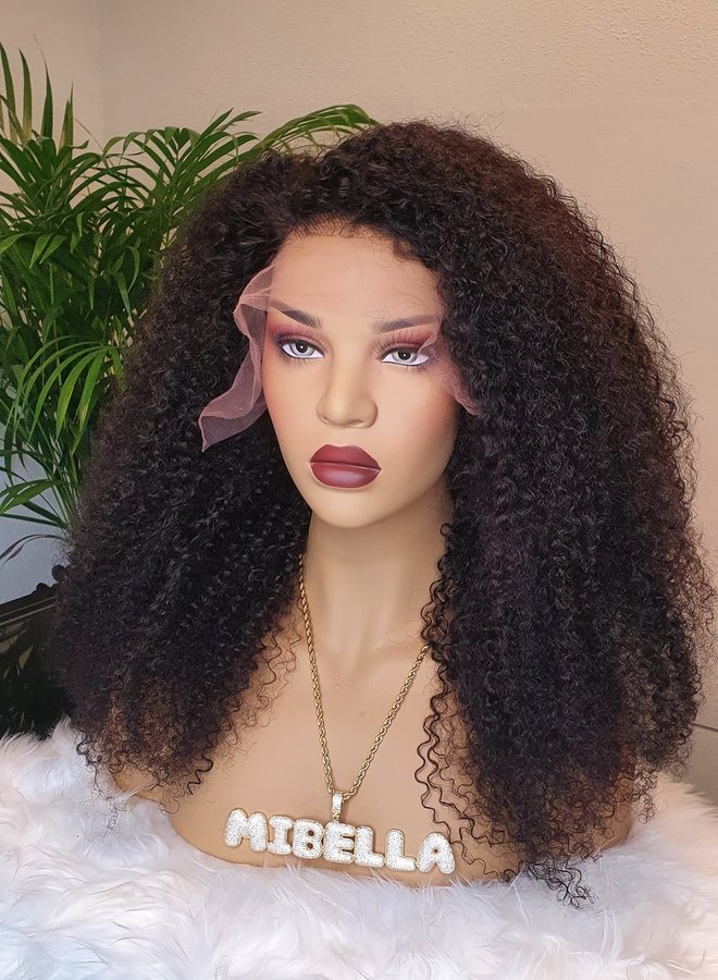 """Frontal Wig Kinky Curly 20"""" Remy Hair"""