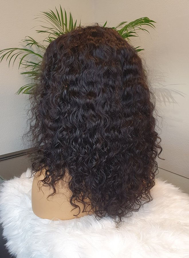 "Closure Wig Moroccan Curly 14"" Remy Hair"