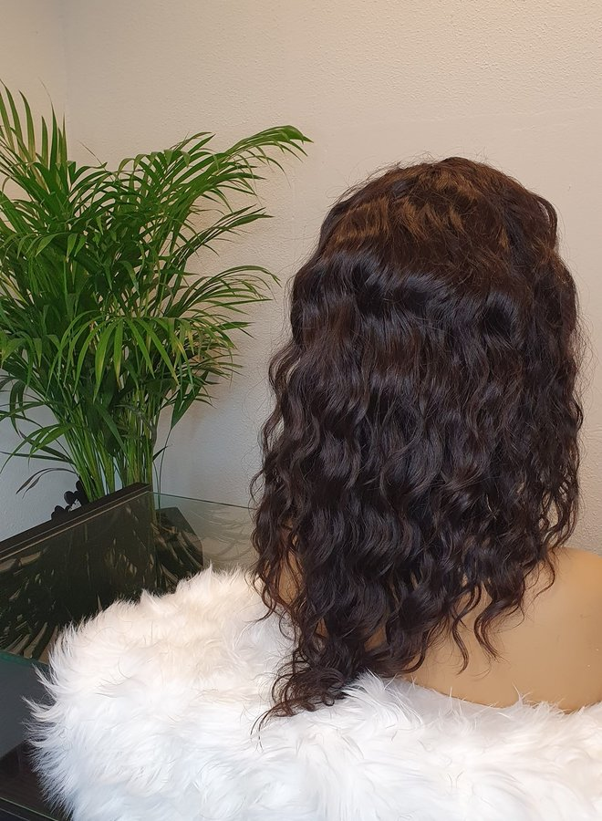 "Closure Wig 14"" Loose Wave Raw* Indian Hair"
