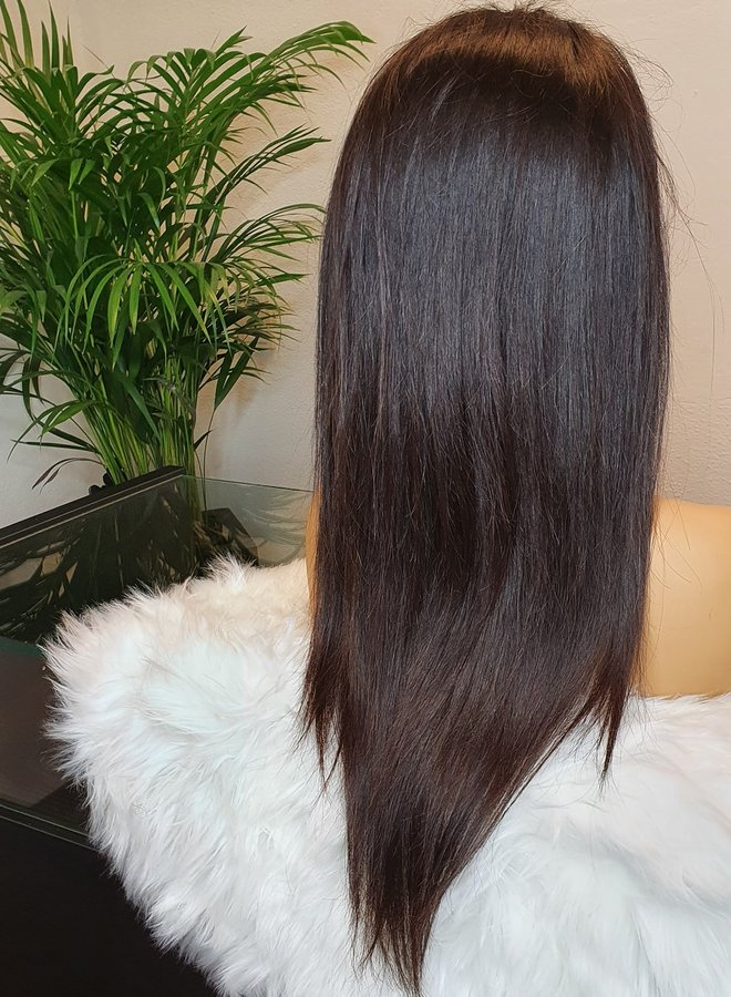 "HD Frontal Wig Straight 18"" Raw Hair"
